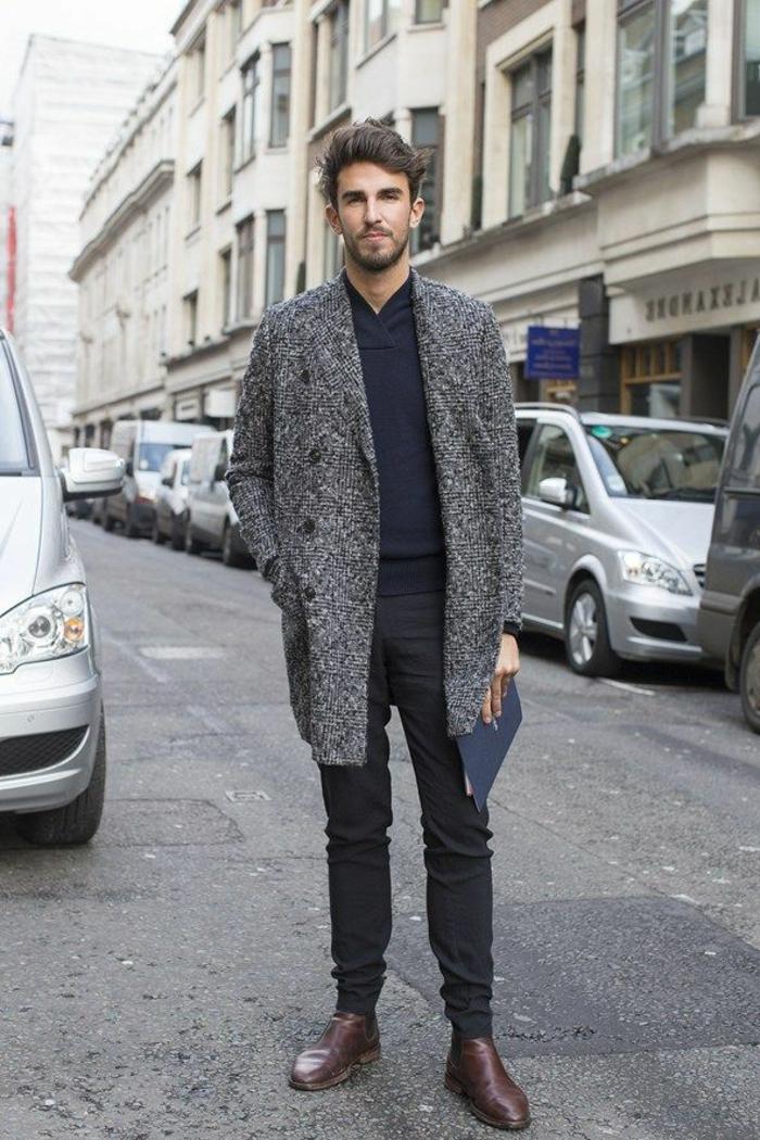 manteau-homme-zara-gris-pour-les-hommes-qui-aiment-la-mode-t-shirt-bleu-foncé