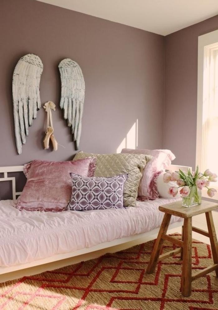 Couleur chambre mauve design d 39 int rieur et id es de meubles - Chambre gris mauve ...