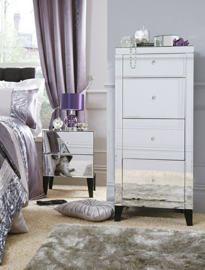 couleur parme chambre id e inspirante pour la conception de la maison. Black Bedroom Furniture Sets. Home Design Ideas