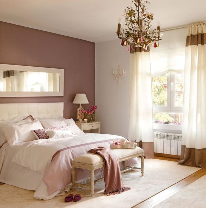 45 id es magnifiques pour l 39 int rieur avec la couleur parme - Chambre parentale romantique ...