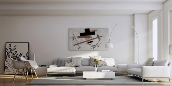 meilleur-idée-couleur-peinture-salon-décoration-salon-artiste-abstrait