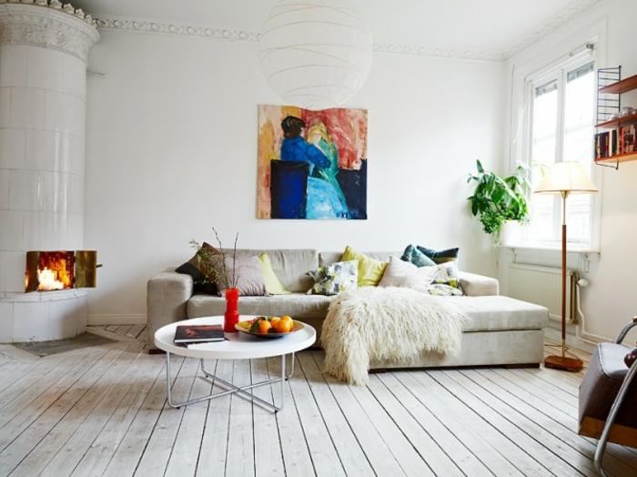 meilleur-idée-couleur-peinture-salon-décoration-salon-artiste-cheminée