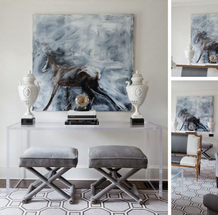 meilleur-idée-couleur-peinture-salon-décoration-salon-artiste-cheval