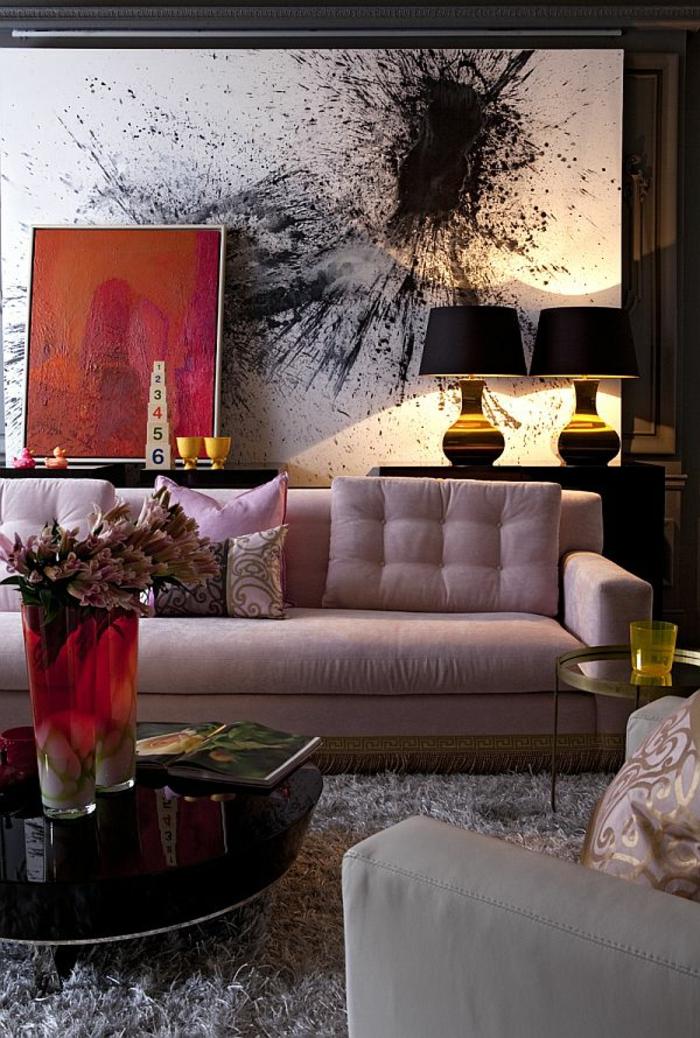 meilleur-idée-couleur-peinture-salon-décoration-salon-artiste-splash