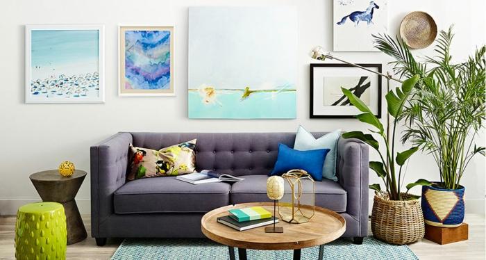 meilleur-idée-couleur-peinture-salon-décoration-salon-artiste-vert