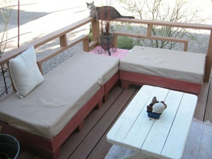 Les meilleures id es pour la terrasse en palette - Meuble exterieur en palette ...