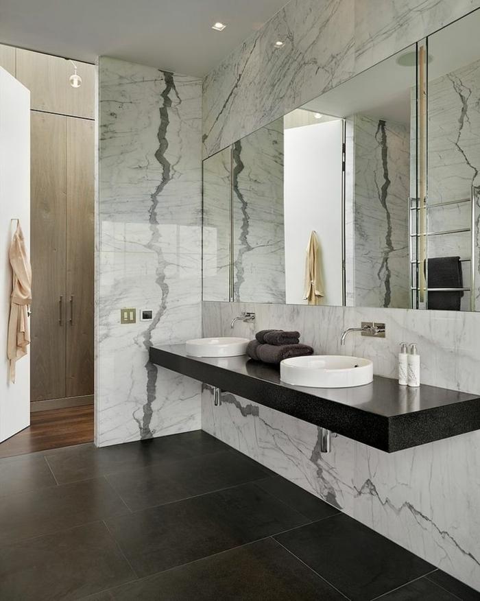 Beaucoup d 39 id es en photos pour la salle de bain en marbre - Idees pour rendre une petite salle de bains beaucoup plus grande ...