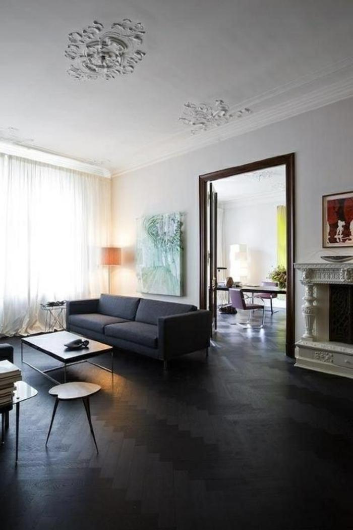 parquet-noir-savo-noir-parquet-pour-le-salon-moderne-avec-une-jolie-decoration-plafond
