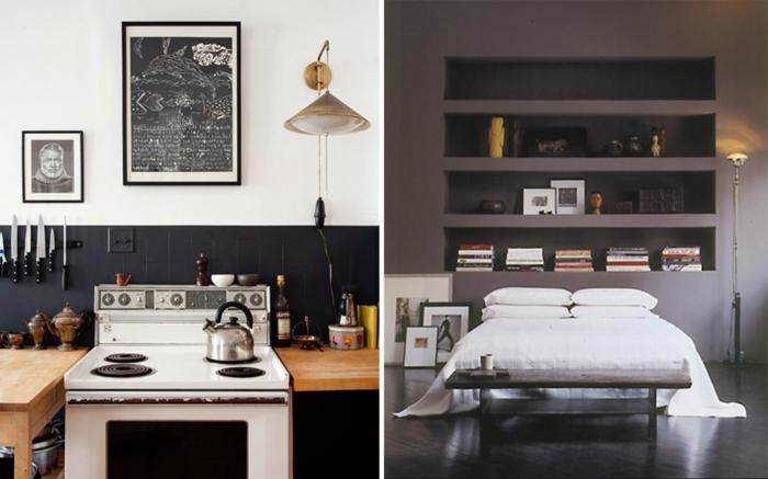 Chambre gris chambre blanc gris et rouge u2013 lombards for Chambre gris et taupe