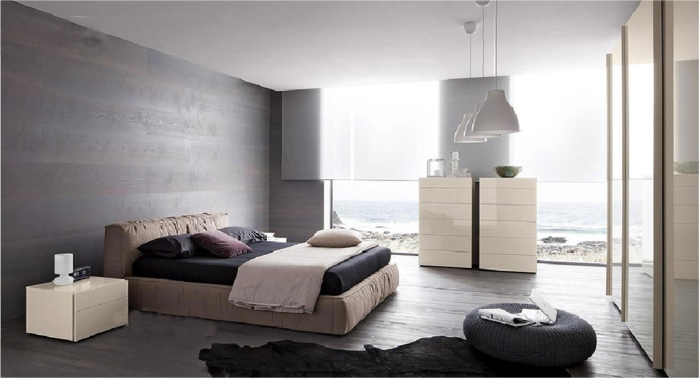 La chambre grise 40 id es pour la d co for Chambre design adulte photo