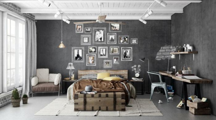peinture-chambre-gris-chambre-taupe-idée-tumblr