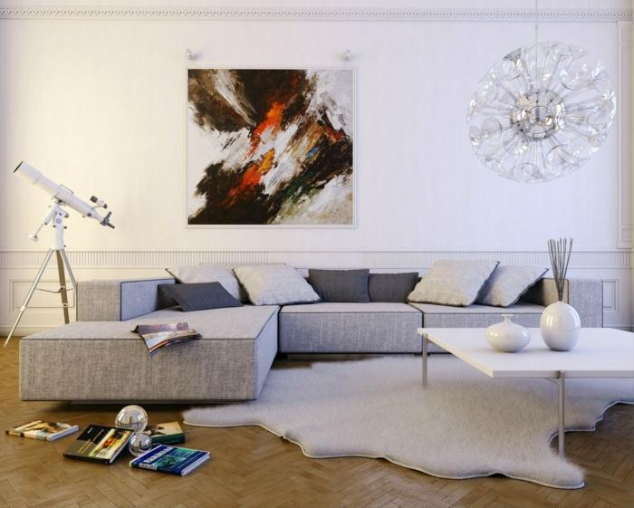 peinture-chambre-idées-peinture-salon-tableau-art-table-basse