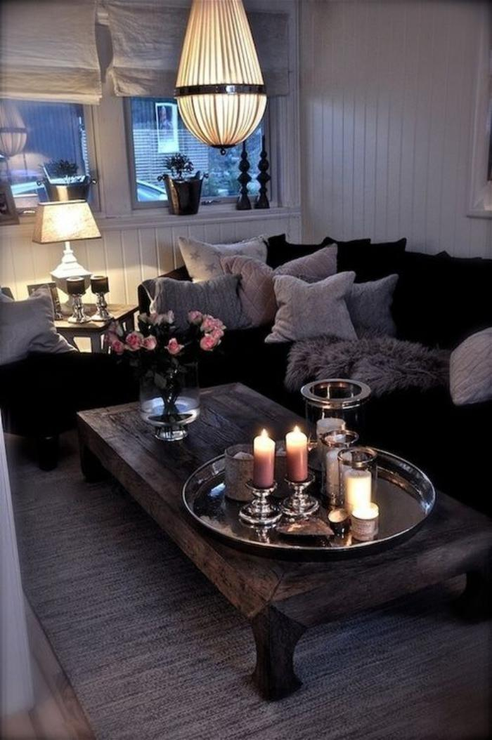 Cr ez une ambiance charmante en utilisant le plateau - Decor for small living room on budget ...
