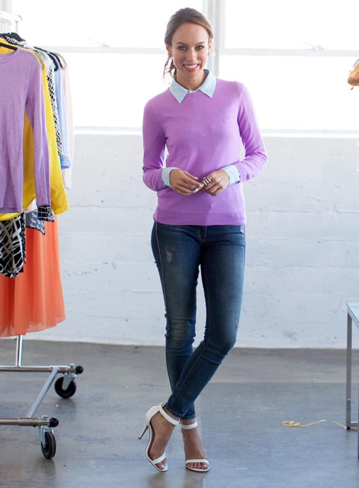pull-en-cachemire-homme-idée-tenue-de-jour-violet