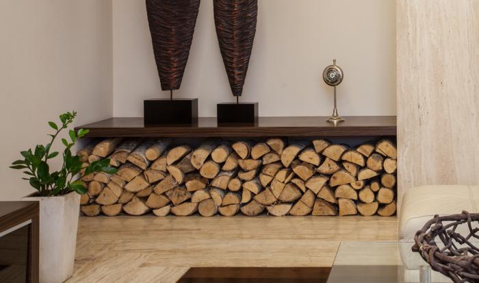 Le range buches d coratif id es magnifiques en 40 photos - Rangement buche de bois interieur ...
