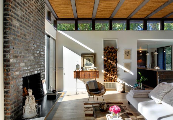 range-buches-idées-déco-pour-les-séjours-modernes-manteau-de-cheminée-en-briques