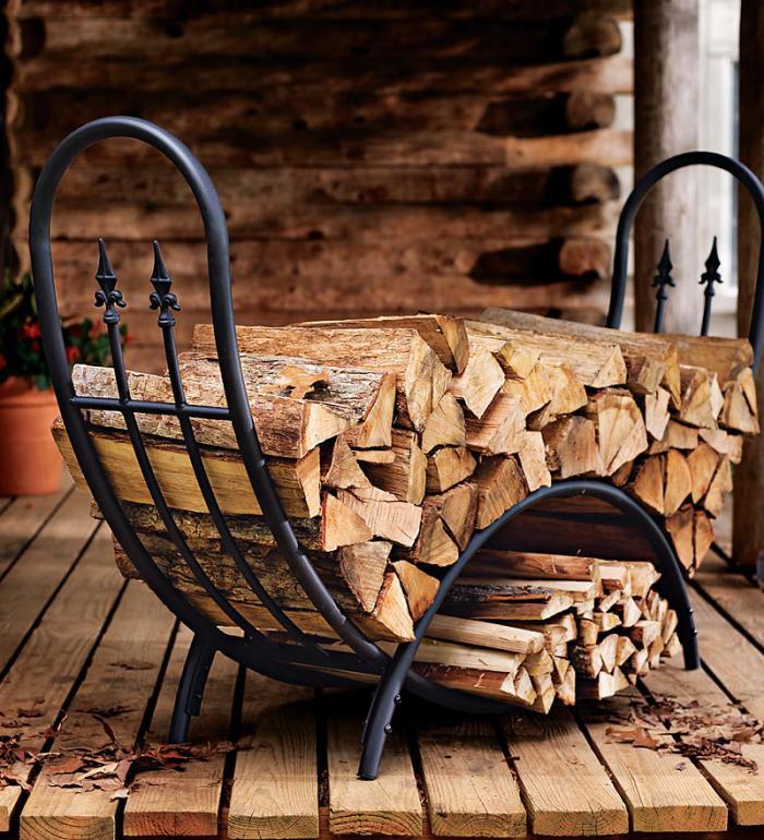 Le range buches d coratif id es magnifiques en 40 photos for Stockage bois de chauffage exterieur