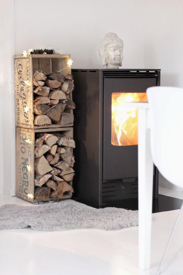 rangement bois de chauffage exterieur fabulous rangement. Black Bedroom Furniture Sets. Home Design Ideas