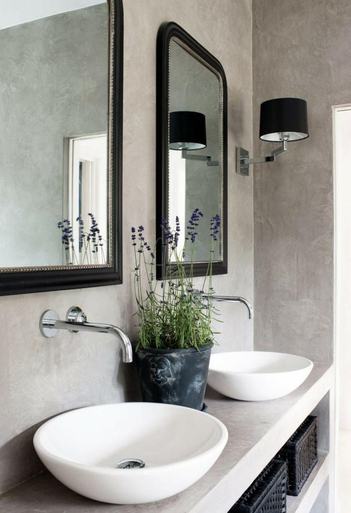robinet-mural-deux-vasques-ovales-à-poser-et-miroirs