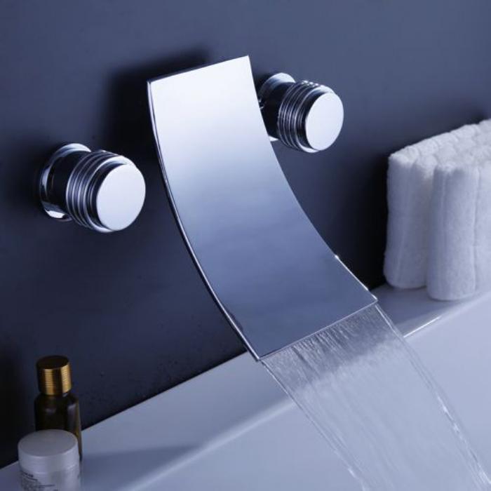 Le robinet mural - différents designs de mitigeurs - Archzine.fr