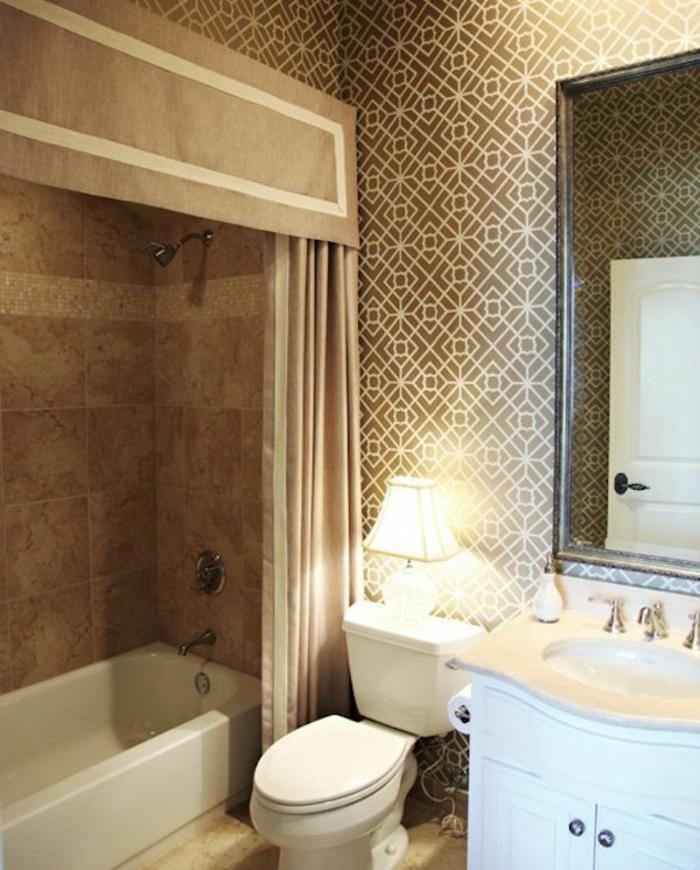 Beaucoup d 39 id es en photos pour une salle de bain beige - Salle de bain retro chic ...