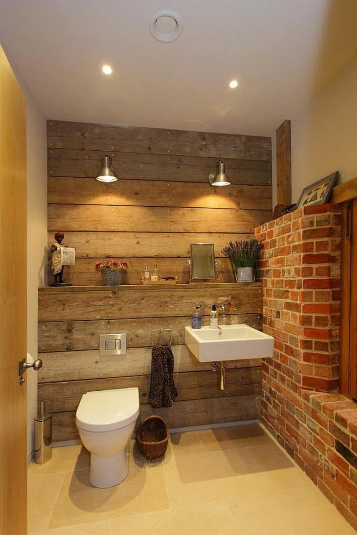 salle-de-bain-rustique-éclairage-original-et-mur-en-briques