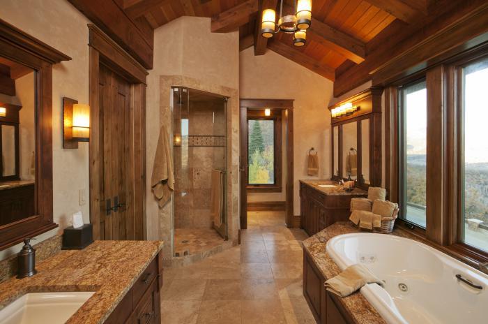 salle-de-bain-rustique-aménagement-salle-de-bains-élégant