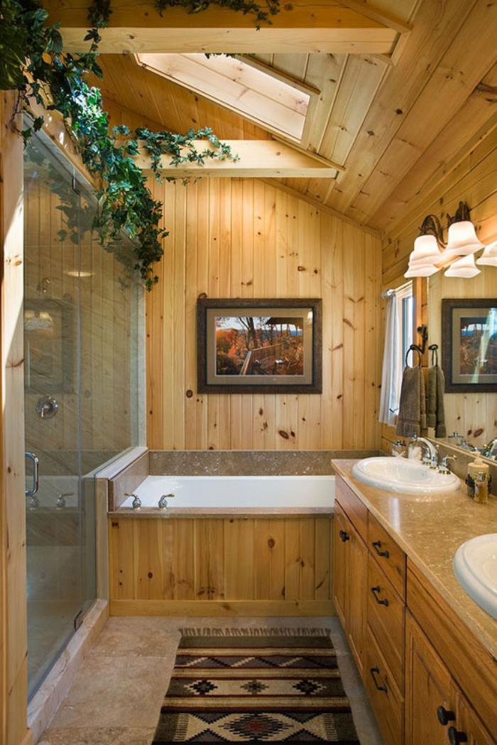 Salle De Bain Rustique Photos : Les beaux exemples de salle de bain rustique – 40 photos inspirantes
