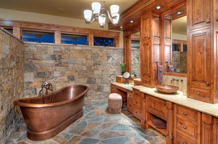 salle-de-bain-rustique-baignoire-jolie-autoportante