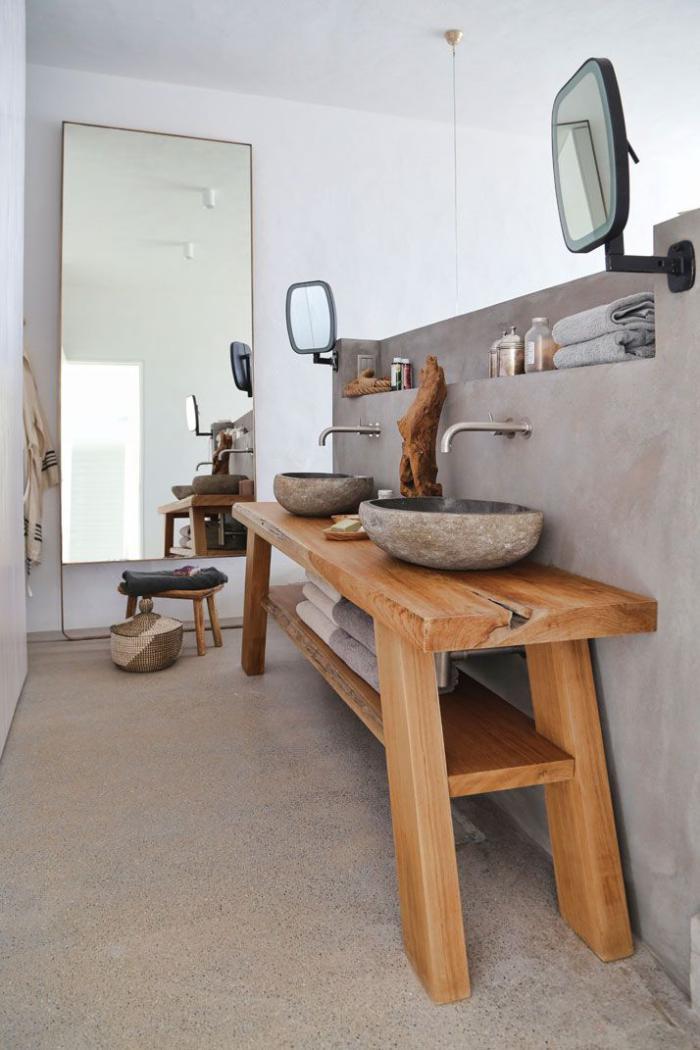 Les beaux exemples de salle de bain rustique 40 photos inspirantes - Deco chalet hout ...