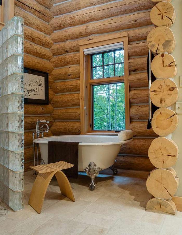 Les beaux exemples de salle de bain rustique 40 photos inspirantes for Salle de bain deco bois