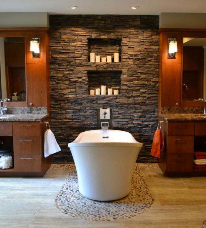 salle-de-bain-rustique-décoration-pierre-et-bois