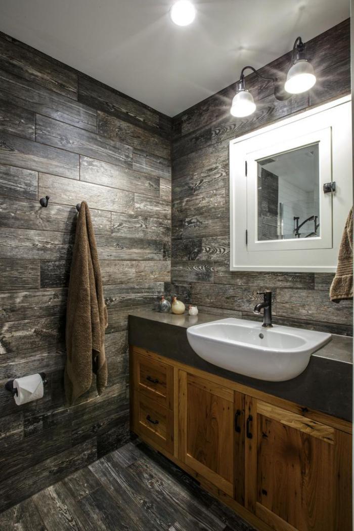 salle-de-bain-rustique-intérieur-rustique-moderne-lavabo-blanc-parement-mural-décoratif