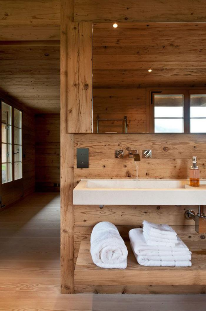 salle-de-bain-rustique-moderne-lignes-épurées-intérieur-de-chalet-type-spa