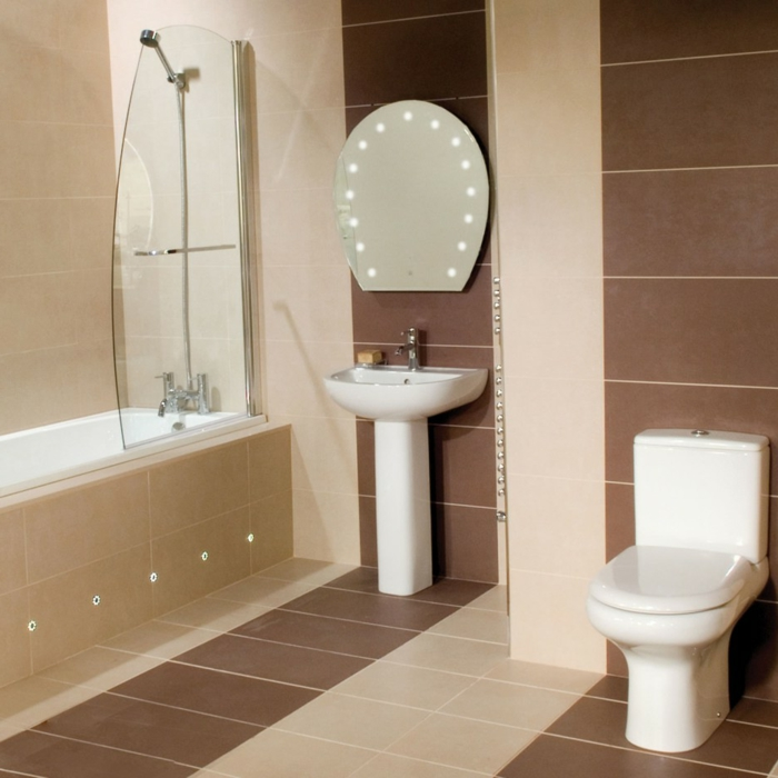 Beaucoup d 39 id es en photos pour une salle de bain beige Simple bathroom design indian