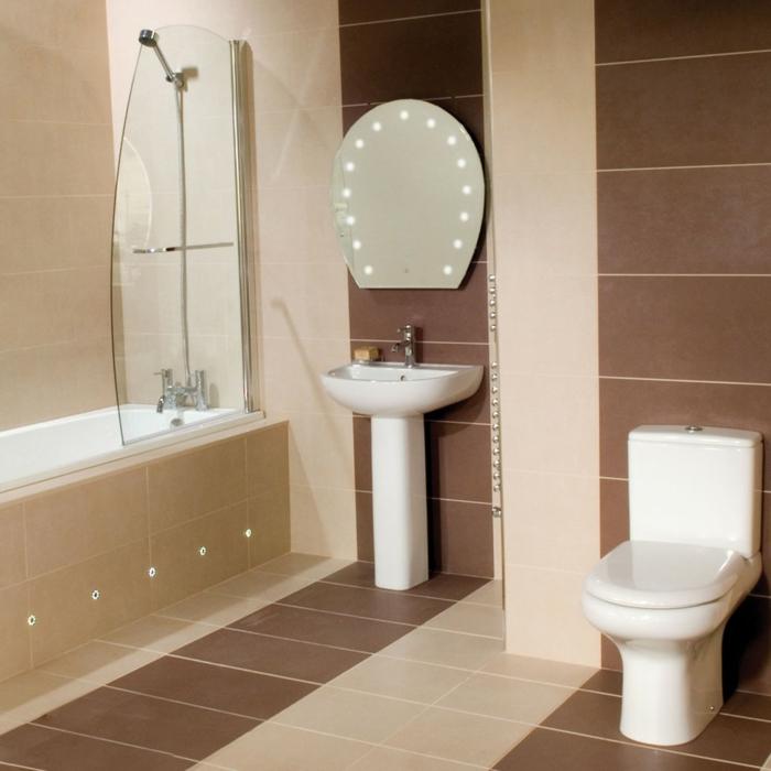 Beaucoup d 39 id es en photos pour une salle de bain beige for Brown beige bathroom ideas