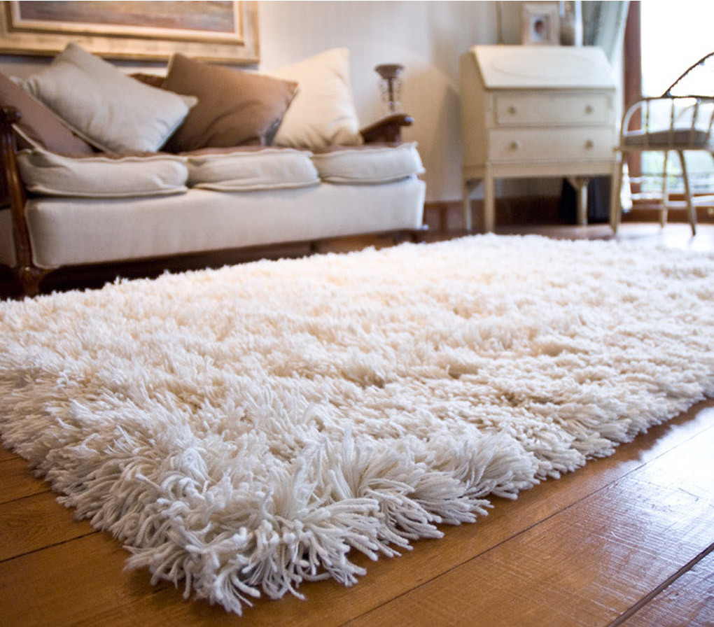 salon-amenagement-tapis-blanc-shaggy