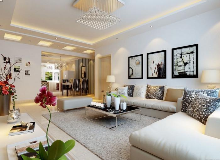 table-de-salon-carrée-et-salle-de-séjour-charmante-magnifique