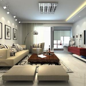 Intérieurs avec table de salon carrée - belles solutions pour votre salon!