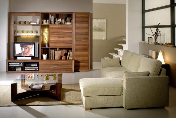 table-de-salon-carrée-meuble-de-tv-avec-vitrines