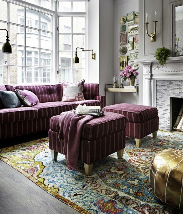 tapis-de-salon-tapis-design-coloré-déco-intérieur-rétro