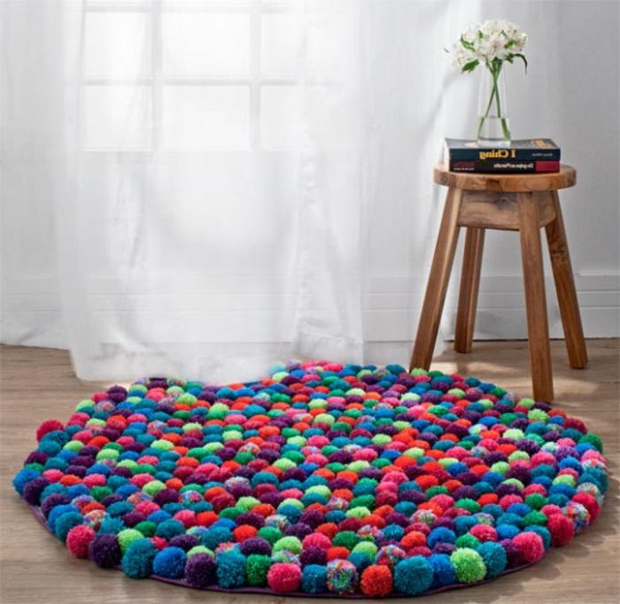 tapis-de-salon-tapis-design-coloré-déco-intérieur-tapis-ronde