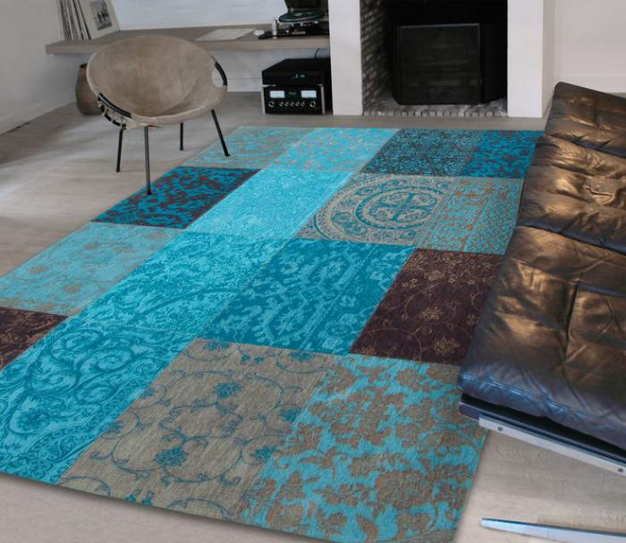 tapis-patchwork-bleu-marron-tapis-stylé-pour-le-salon-moderne