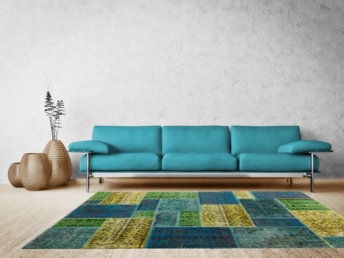 Le tapis patchwork une d coration facile pour l 39 int rieur - Tapis decoration salon ...