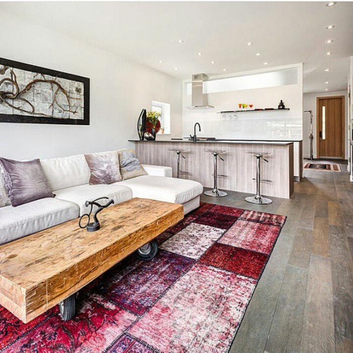 Le tapis patchwork une d coration facile pour l - Tapis de sol salon ...