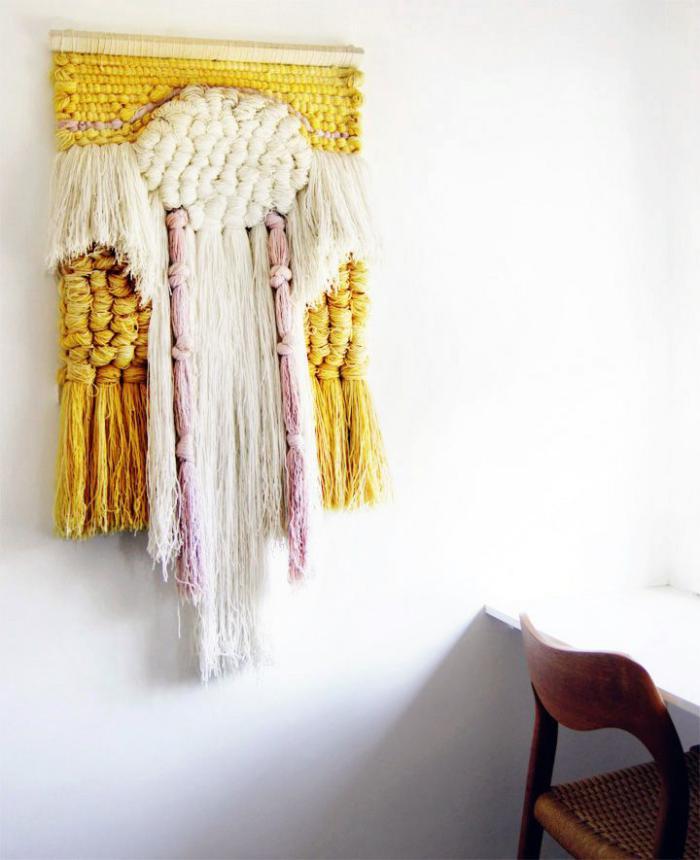 tentures-murales-belle-pièce-d'art-en-textile
