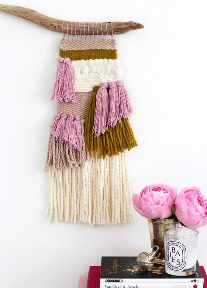 tentures-murales-déco-murale-tricotée-en-laine