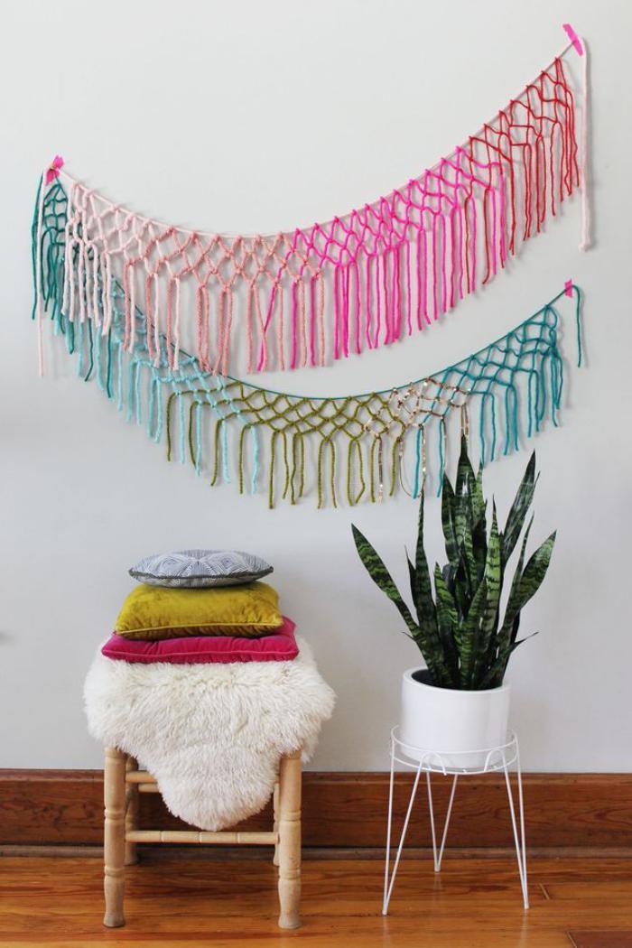 tentures-murales-faciles-à-faire-avec-fils-en-laine-colorés