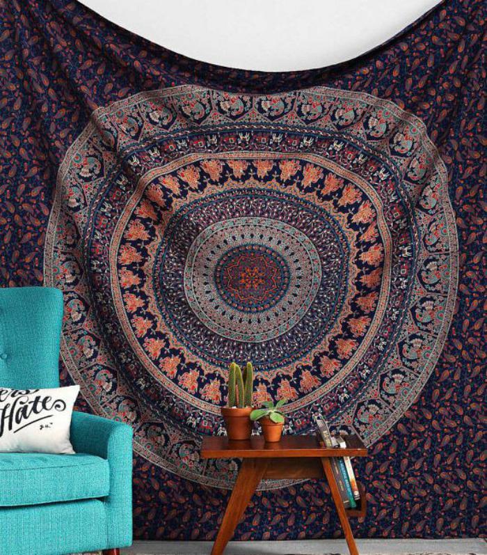 tentures-murales-mandala-décoration-d'intérieur-hippie-chic
