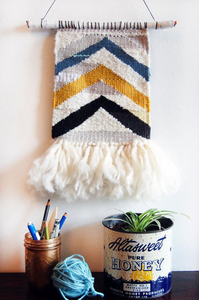 tentures-murales-tissées-en-laine-colorée